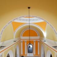 Decoracion pintado amarillo y naranja