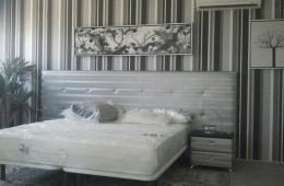Papel pintado habitación tonos grises