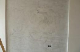 Acabado pared pintura