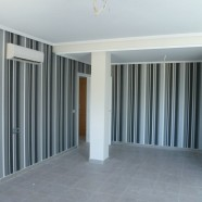 papel pintado rayas verticales grises