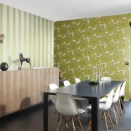 Papel pintado tonos verdes