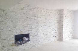 Piedra artificial en pared